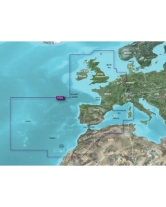 Garmin BlueChart G3 Vision - Europe Atlantic Coast - Coverage