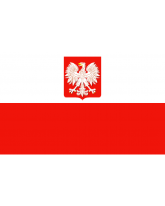 Poland Merchant Courtesy Flag