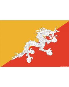 Bhutan Courtesy Flag