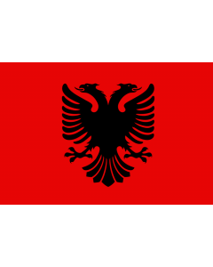 Albania Merchant Courtesy Flag