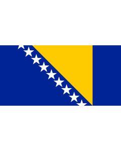 Bosnia Herzegovina Courtesy Flag