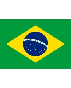 Brazil Sewn Courtesy Flag