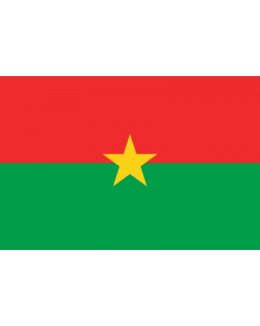 Burkina Faso Courtesy Flag
