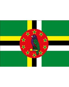 Dominica 12 x 9 Courtesy Flag Polyester