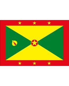 Grenada 12 x 9 Courtesy Flag Polyester