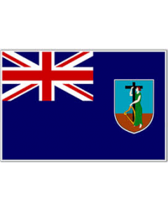 Montserrat 12 x 9 Courtesy Flag Polyester