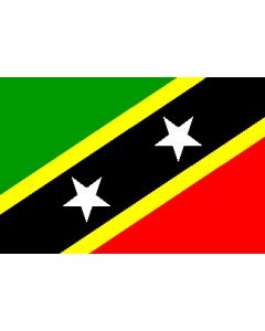 St.Kitts/Nevis 12x9 Courtesy Flag Polyester