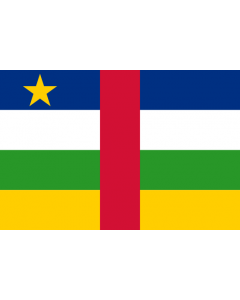 Central African Republic Courtesy Flag