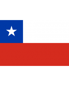 Chile Courtesy Flag