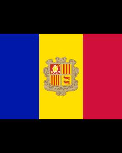 Andorra Courtesy Flag