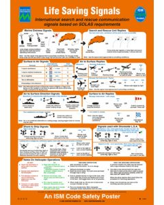 Life-Saving Signals And Shipboard Safety (SOLAS No.1 Poster)