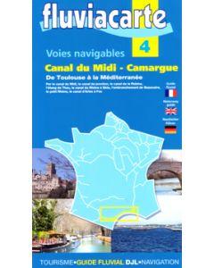 Fluviacarte Guide 4 - Canaux du Midi - de Toulouse a la Mediterranee