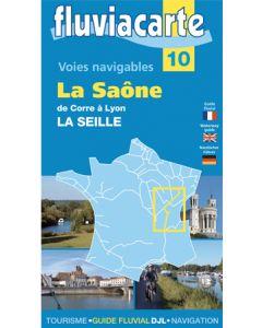 Fluviacarte Guide 10: La Saône de Corre á Lyon - La Seille