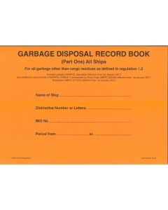 Garbage Disposal Record Book (Part 1 - All Ships)