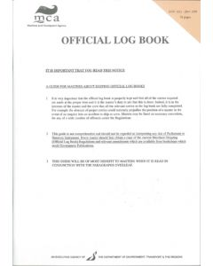 MCA Official Log Book 1(L) - UK Flag registered Vessels