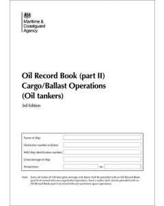 Oil Record Book Part 2 - MARPOL Cargo Ballast/Operations (Oil Tankers)