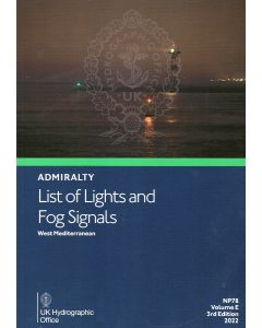 NP78 - ADMIRALTY List of Lights and Fog Signals: West Mediterranean (Volume E)