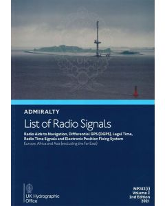 ADMIRALTY List of Radio Signals - Europe, Africa & Asia [Excluding the Far East] (Volume 2, Part 1)