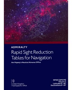 NP303[2] - ADMIRALTY Rapid Sight Reduction Tables For Navigation: Volume 2