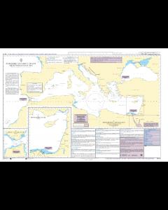 ADMIRALTY Maritime Security Chart Q6110 - Mediterranean Sea