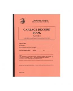 Liberian Garbage Record Book Parts 1 & 2 - Bulk Carriers