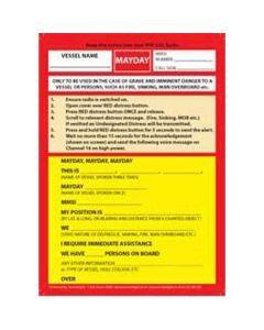 Mayday Procedure Card