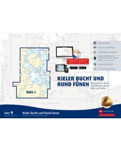 Sportbootkarten Satz 1: Kieler Bucht und Rund Fünen