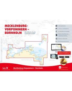 Sportbootkarten Satz 2: Mecklenburg-Vorpommern - Bornholm