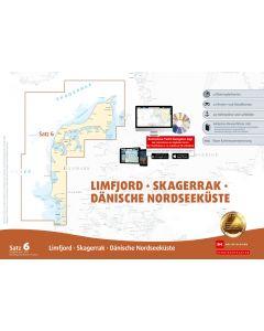 Sportbootkarten Satz 6: Limfjord - Skagerrak - Dänische Nordseeküste