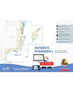 Sportbootkarten Satz 11: Ostküste Schweden 1