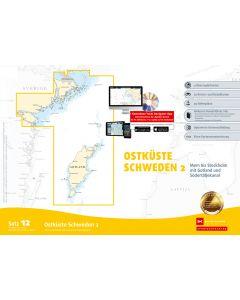 Sportbootkarten Satz 12: Ostkste Schweden 2