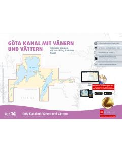 Sportbootkarten Satz 14: Götakanal mit Vänern und Vättern