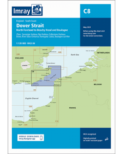 C8 Dover Strait - North Foreland to Beachy Head and Boulogne (Imray Chart)