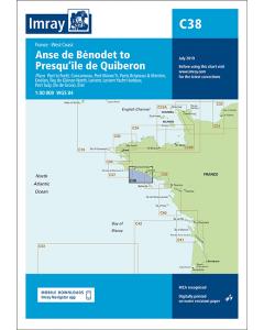 C38 Anse de Bénodet to Presqu'île de Quiberon (Imray Chart)