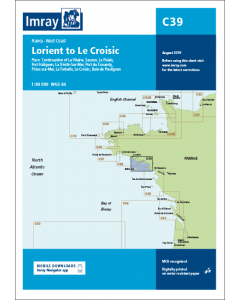 C39 Lorient to Le Croisic (Imray Chart)