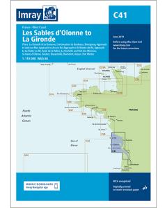 C41 Les Sables d'Olonne to La Gironde (Imray Chart)