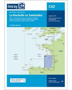 C42 La Rochelle to Santander (Imray Chart)