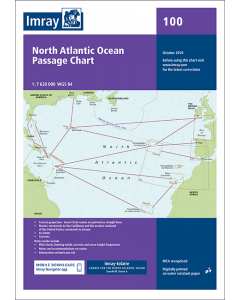 100 North Atlantic Ocean Passage Chart (Imray Chart)