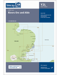Laminated Y2 Rivers Ore and Alde (Imray Chart)