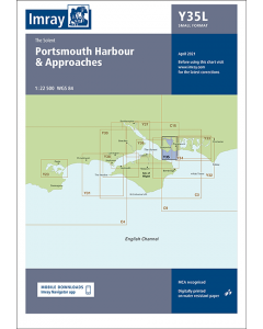 Laminated Y35 Portsmouth Harbour and Approaches (Imray Chart)
