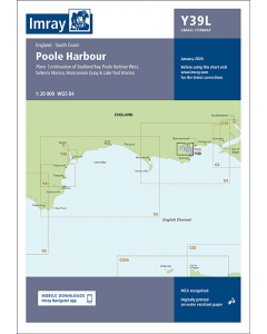 Laminated Y39 Poole Harbour (Imray Chart)