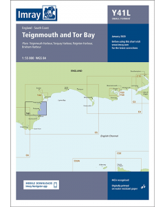 Laminated Y41 Teignmouth and Tor Bay (Imray Chart)