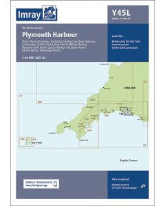 Laminated Y45 Plymouth Harbour (Imray Chart)
