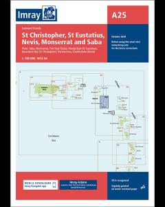 A25 St Eustatius, St Christopher, Nevis, Monserrat & Saba (Imray Chart)