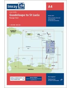 A4 Guadeloupe to St Lucia (Imray Chart)