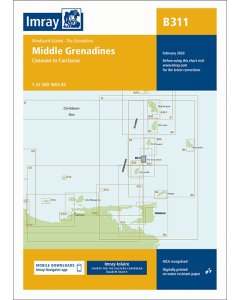 B311 Middle Grenadines (Imray Chart)