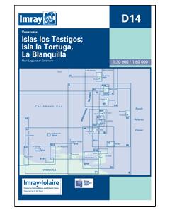 D14 Islas Llos Yestigos Tortuga Blanquilla (Imray Chart)
