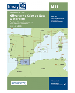 M11 Gibraltar to Cabo de Gata and Morocco (Imray Chart)