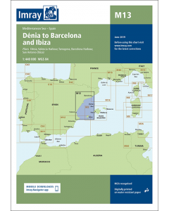 M13 Dénia to Barcelona and Ibiza (Imray Chart)