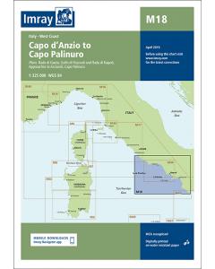 M18 Capo d'Anzio to Capo Palinuro (Imray Chart)